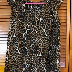 Express leopard print blouse.